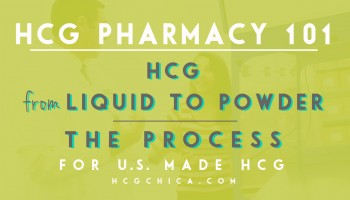 At the Pharmacy - Keeping Precription hCG Potent and Stable - How and Why hCG Needs to Arrive At Your Home in Powder Form - the Process - hcgchica.com