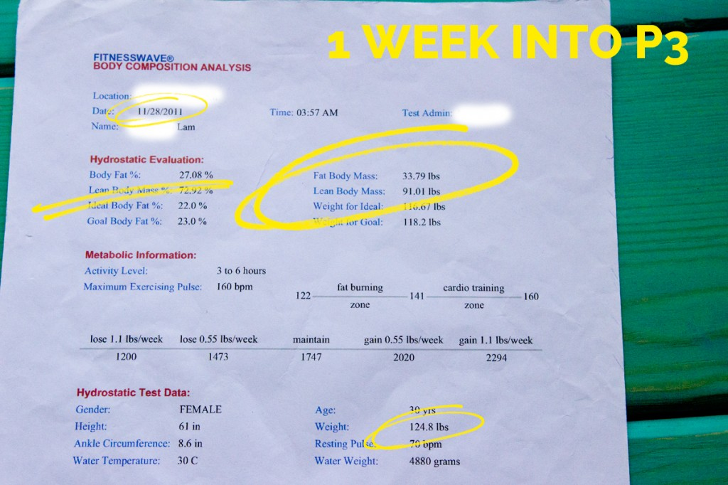 Hydrostatic Body Fat Test - 1st Week of Phase 3 after hCG Diet - hcgchica.com