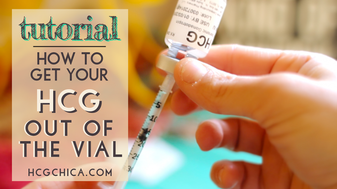 How to Get Your hCG Out of the Vial for Injections - hcgchica.com
