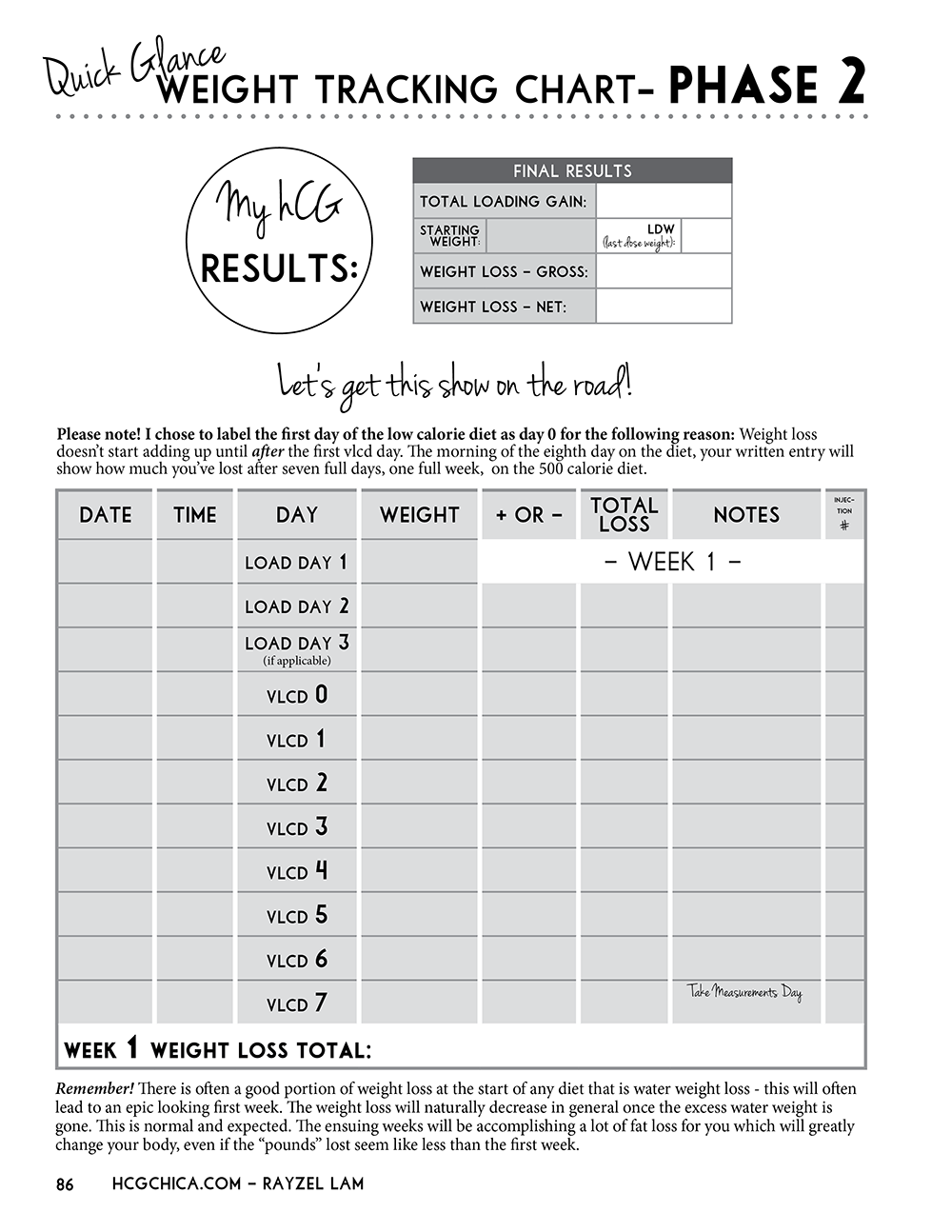 Nifty image in hcg diet tracker sheet printable